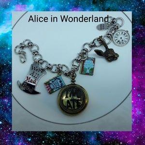 Alice in Wonderland charm bracelet